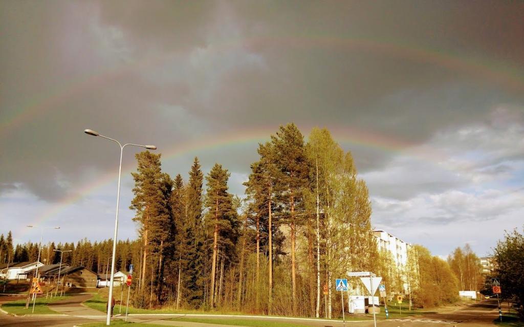 Happiness double rainbow